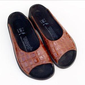 Tatami Birkenstock Croc Embossed Sandals Slides